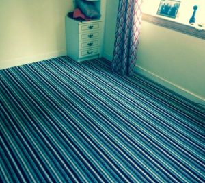 striped carpet